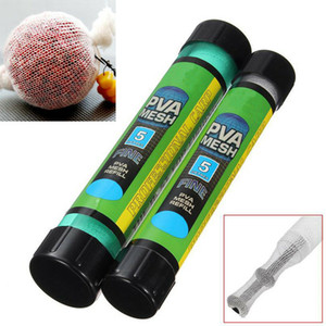 25/37/44 milímetros de plástico carpa Grosseiro Isca saco solúvel em água do saco de PVA Lure malha Isca atirador