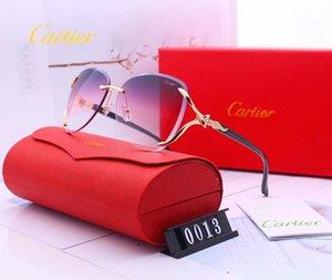 النظارات الشمسية الفاخرة للرجال والنساء مصمم النظارات الشمسية النظارات الشمسية إطار كبير تريم الوجه 6 ألوان نموذج 0013