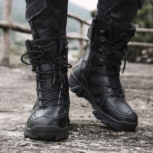 El tamaño grande 47 Bota táctica militar de los hombres de 2019 a prueba de agua del top del alto desierto botas de combate táctico botas de los hombres al aire libre Escalada deportiva