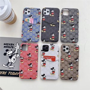 süße Maus mit Karte für samsung S20 S10 S9 S8 S7 S20p s20ultra cover für iPhone 11 Pro-max X-XS Max XR 8 7 6S Fall Brand-Schutz-Fall