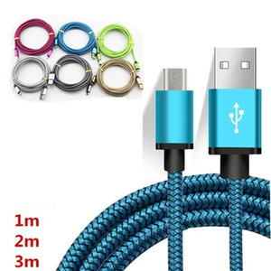 2020 Micro  Type C USB Cable Data Sync Charging Adapter Aluminum Alloy Adapter For Samsung S10 S9 NOTE9 S6 huawei android Phone 10ft 6ft 3ft