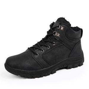 2018 New Men Boots Winter Warm Men Shoes Fashion Snow Boots Lace Up Ankle Boots Rubber Male Winter Shoes Men Footwear Size 39-46