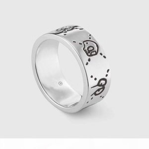 Popular fashion brand 925 sterling silver Skull Designer rings for lady Design Women Party Wedding Luxury Jewelry With for Bride with box.