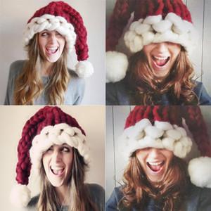 عيد الميلاد هات حك الآيسلندي سميكة كاب ذيل طويل ريد هات شتاء دافئ كاب الكبار حزب عيد الميلاد هدية 56-60CM 3color و