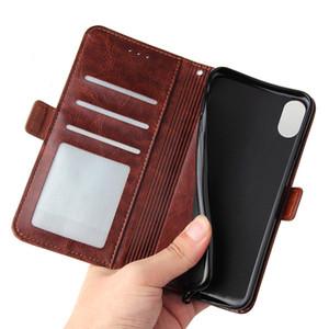 Para iPhone 11 Pro Max XS XR X 8 7 Plus Phone Case Zipper PU carteira de couro Titular Bolsa em pé Tampa