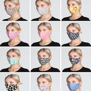 Nueva Cara diseñador de la máscara de la máscara de lujo lavable a prueba de polvo Equitación Ciclismo Deportes impresión floral Máscaras moda para hombres y mujeres DHA29