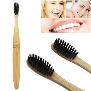 Natural Bamboo Toothbrush Bamboo Charcoal Toothbrush Low Carbon Bamboo Nylon Wood Handle Toothbrush 250PCS