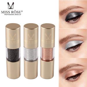 MISS ROSE Gold Flüssiger Lidschatten Metallic Augen Makeup Shimmer Glitter Lidschatten Flüssiges Pigment Wasserdichte Lidschatten Kosmetik