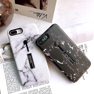 2018 Marble Pattern Phone Case With Invisible Ring Stand Holder Stand Phone Back Case Kickstand Grip Finger Ring Phone Cover For iPhone