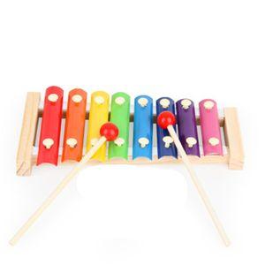 Hölzerne Hand Knocking Klavier Spielzeug-Kind-Musikinstrumente Kid Xylophone Developmental Holz Frühkindliche Bildungs-Spielzeug frei TNT
