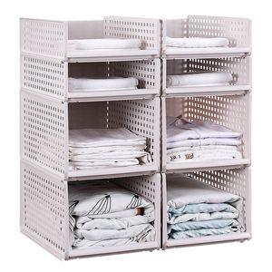 Cajón de ropa de tipo de almacenamiento de gran plástico organizadores cesta para la ropa de Alimentos en capas al por mayor de la cocina del guardarropa Cesta de almacenamiento