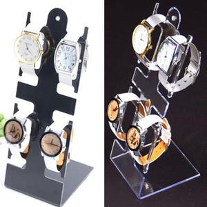 L Şeklinde Plastik İzle Ekran Kol Tutucu Raf Watch Bilezik Takı Ekran Temizle Siyah Vitrin GGA3052-2 Standı