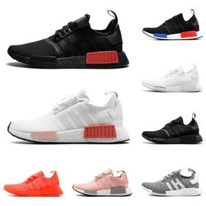 scarpe firmate Triple nere nmd scarpe sportive R1 bianco solare in marmo rosso Cool Grey Thunder allenatore corridore libero sneaker [Senza Box]