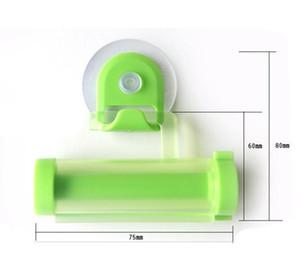 Dentifrice Distributeur manuel en plastique roulant Tube Squeezer pistolet seringue Distributeur Sucker Titulaire dentaire Crème de bain Accessoires DSL-YW1864