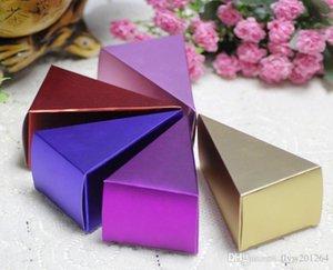 nova festas de aniversário caixa de presente bolo criativo folha triângulo, casamento e presente de noivado Box 100 PCS