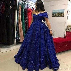 Elegante Azul Marinho Lantejoulas Vestidos de Baile A Linha de Um Ombro Vestidos de Noite Arábia Saudita Até O Chão Formal Vestido de Festa Custom Made