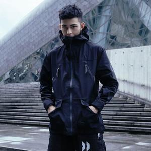 Herrengrabenmäntel Croxx Lightweight Windjacke Wetter Proof Techwear Style Print Streetwear Mode