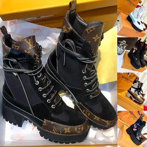 Laureate Platform Desert Boot Damen Designerstiefel Martin Boots Neueste Damen Luxusschuhe Flamingos Love Arrow Schwere Sohlen Stiefeletten