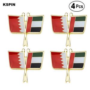 Bahrain U. A. E. Friendship Bow Lapel Pin Flag badge Brooch Pins Badges 4PC