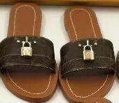 2019 lock it Leder Designer Sandalen Mode 35-41 Damen Sandale Pferdemarke mit Box Damenmode Staubbeutel Mini Hausschuhe flache Hausschuhe