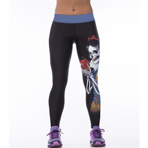 3D Digital Printing Running Fitness Athletic Pants Horror Princess Pattern High-waisted Leggings Stretch Yoga Pants