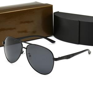 Nova moda óculos de sol polarizados para homens, europeus e americanos moda personalidade óculos de sol, armação de metal óculos 0115