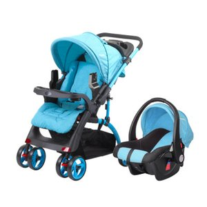 Multifunction Baby Stroller 2 in 1 Portable Travel Baby Carriage Quick Fold Prams High Landscape Large Seat Car for Newborn