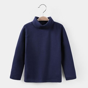2018 Girls Sweaters Solid Candy Color Boys Sweaters Autumn Wool Baby Girl Bottoming T-shirt Sweater Kids Clothing Girls Pullover