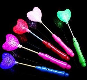 Frete grátis New LED Brilho Estrela Wand Mista Rose Heart Shaped Concert Vara Flashing Light Partido Novidade Led Brinquedos