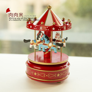 Spot new merry-go-round music box with LED lights handicraft cake shop using Trojan lights