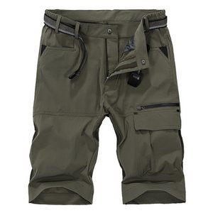YIHUAHOO Casual Shorts Hommes Multi-poches Army Cargo Short Homme Mince Respirant Séchage Rapide Sport Pantalon Court MS-16962