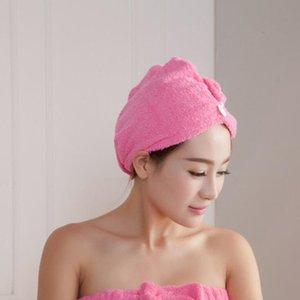 Чистые шапочки для душа Цвета Quick Dry Сильные Водопоглощения Душ Крышка для волос Сухих конфеты Цвет Сушка Тюрбан Шляпа WY351Q