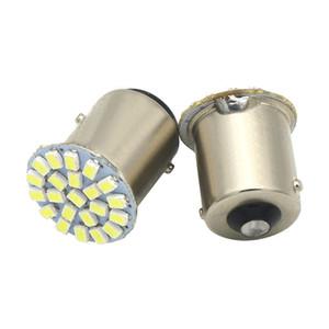 100Pcs 1156 22SMD P21W BA15S LED Bulb Car Auto Front Lights Brake Lights Turn Lights Parking Lamp Bulb DC 12V white yellow