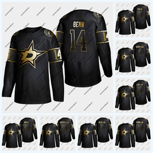 Dallas Stars 2019 Golden Edition Hockey Jersey 14 Jamie Benn 4 Miro Heiskanen 91 Seguin 36 Mats Zuccarello 21 Ben Lovejoy 30 Ben Bishop