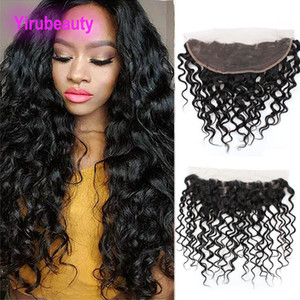 Indian Vierge Cheveux 13x4 Dentelle Frontal Vague avec bébé HairLace Frontal et humide onduleux humaine Top Hair Closures