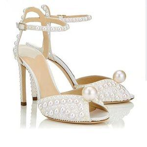 Femmes Sandales Mode Chaussures de mariage de qualité Femmes New Perles Goujons Peep Toe Escarpins Chaussures Femme Chaussures De Mujer