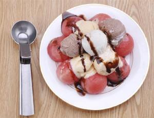 Кухня Инструменты Мороженое Копает Болл Ложок нержавеющей стали высокого качества десерт Тесто Scoop Горячей Продажу 4 9kt Ww