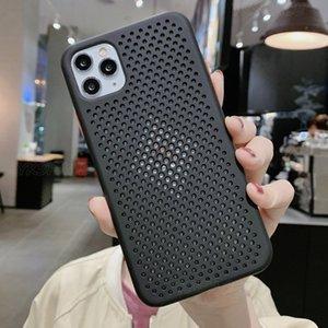 La meilleure qualité Dissipation thermique Mesh en silicone pour iPhone X XR XS 11 Pro Max 6 6s 7 8 Plus doux et respirant TPU Phone Cover