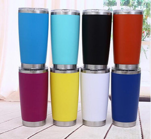 600 ml Nueva haber llegado Botella metal de la astilla taza aislada agua del recorrido cerveza taza de café con tapa para el suministro adecuado de coches Copas taza de café Vasos