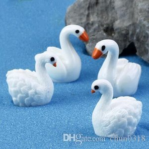 Creative Cartoon Mini Cygnus Toys Pendant Moss Micro Landscape Resin Handicraft Garden Decoration Ornaments Jewelry Fleshy Swan Lovers
