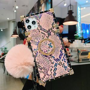 caso de telefone de couro de luxo para Iphone 11 Pro Phone Case Xs Max Xr Amor Plush Bola 6 7 8 Cell Cases Cute Girl macias X mais