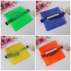 Yüksek Kapasiteli Su geçirmez Bel Çantaları Şeffaf Saf Renk PVC Cep Telefonu Cepler Saklama Torbası Açık Rafting Waistpack Erkek Kadın 2 8MK E19