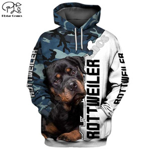 Mens engraçado Rottweiler cão 3D imprimir Novas hoodies outono capuz mulheres manga longa pullover Treino outwear primavera casaco com capuz