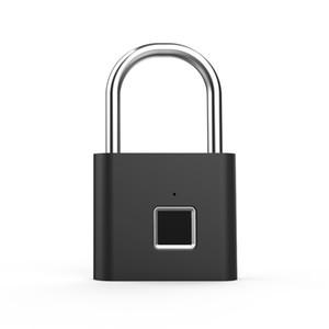 ID d'empreintes digitales sans clé de verrouillage de porte intelligent Padlock rapide Unlock en alliage de zinc métal auto Développer Chip verrouillage USB rechargeable polyvalent de sécurité