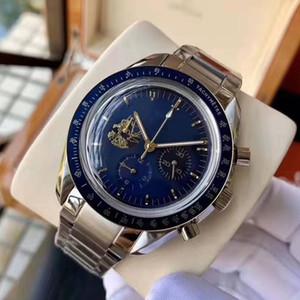 New Luxury Mens Watch Speed Dial 42mm maître Apollo 11 50e édition limitée Mouvement Quartz Full Fonction Gentleman