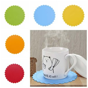 Silicone Cup Coaster Non-Slip isolamento canecas Placemats quente Beber resistente ao calor Coaster Pad Rodada Garrafas Placemat BH3069 TQQ
