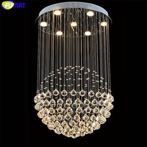 Fumat كريستال chandelier الحديثة قلادة المقاوم للصدأ السقف تعليق غرفة المعيشة الإضاءة مصابيح led hanglamp درج