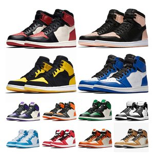 2020 baskets  AIR Jordan Retro 1 Jumpman OG 1 1s Mens Womens basketball shoes Crimson Tint Shattered Backboard Chicago Pine Green Golden UNC des chaussures pour femmes hommes
