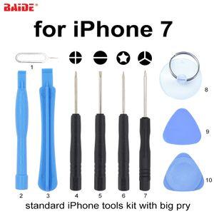 С 0,6 Y 9 в 1 Набор отверток Стандартный 10 в 1 Набор инструментов для открытия мобильного телефона для iPhone 7 8 X Repair Tool 500set / lot
