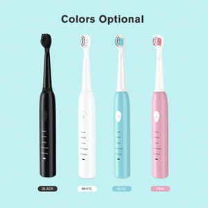 Potente di Sonic Spazzolino elettrico ricaricabile con 4 sostituzione delle spazzole teste ultrasoniche Whitening elettronico spazzolare i denti 4 colori DHL